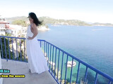 German married woman anal bang on the balcony in vacation